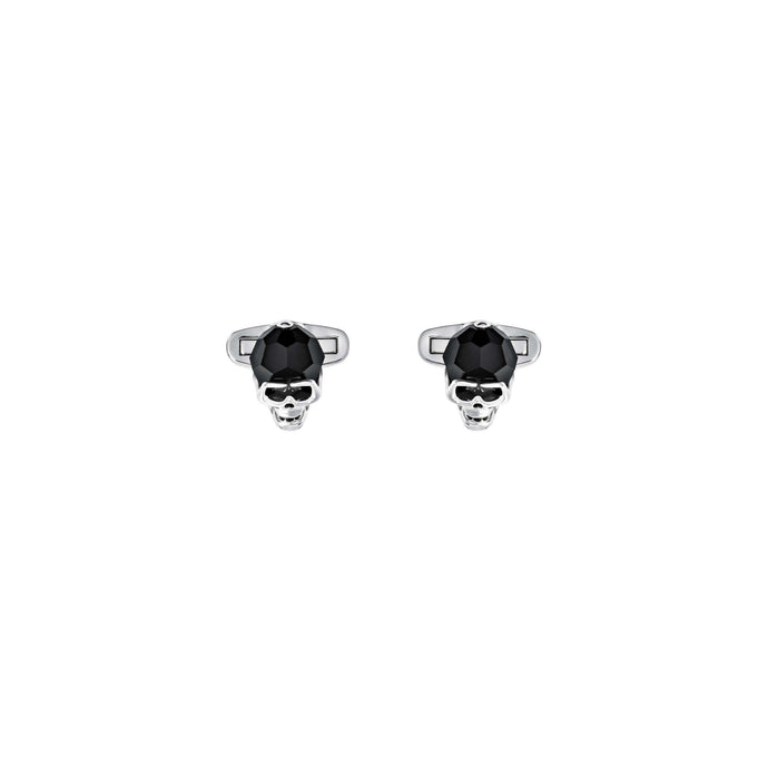 Swarovski Taddeo Cuff Links, Black, Palladium Plating