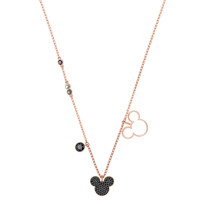 Swarovski Mickey & Minnie Pendant, Multi-Colored, Rose Gold Plating