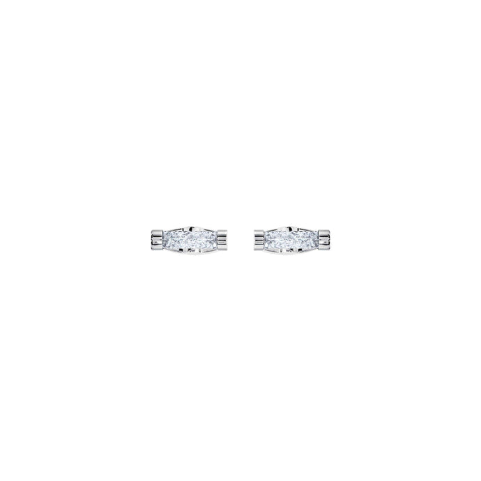 Swarovski Crystaldust Cuff Links, White, Stainless Steel