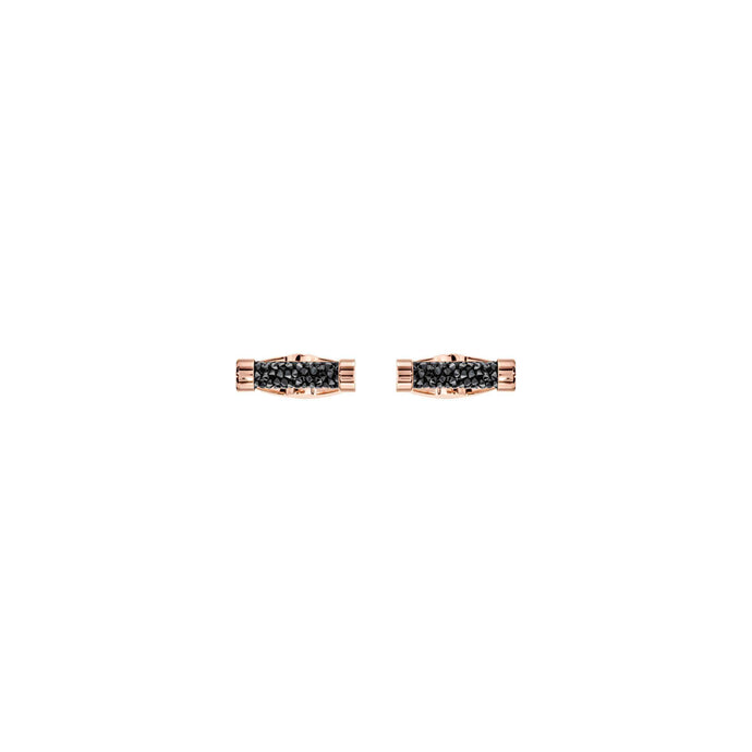 Swarovski Crystaldust Cuff Links, Black, Rose Gold Plating