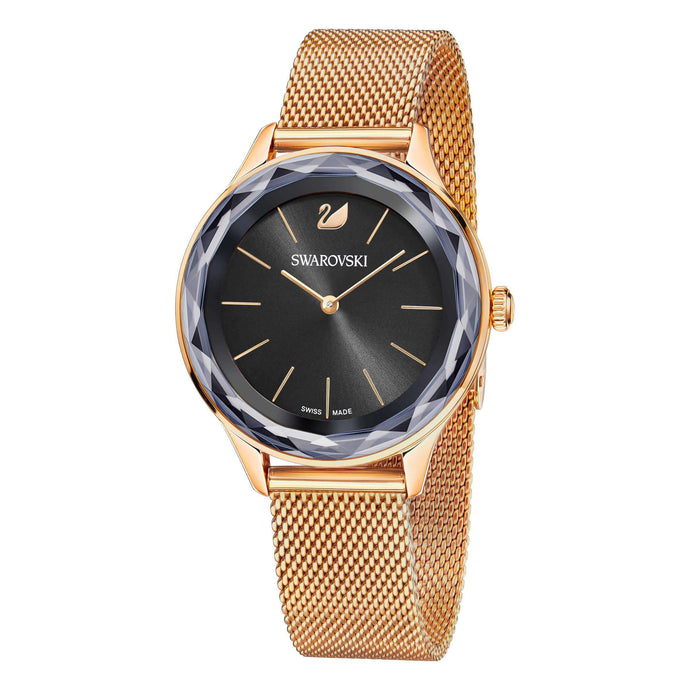 Octea Nova Watch, Milanese Bracelet, Black, Rose Gold Tone