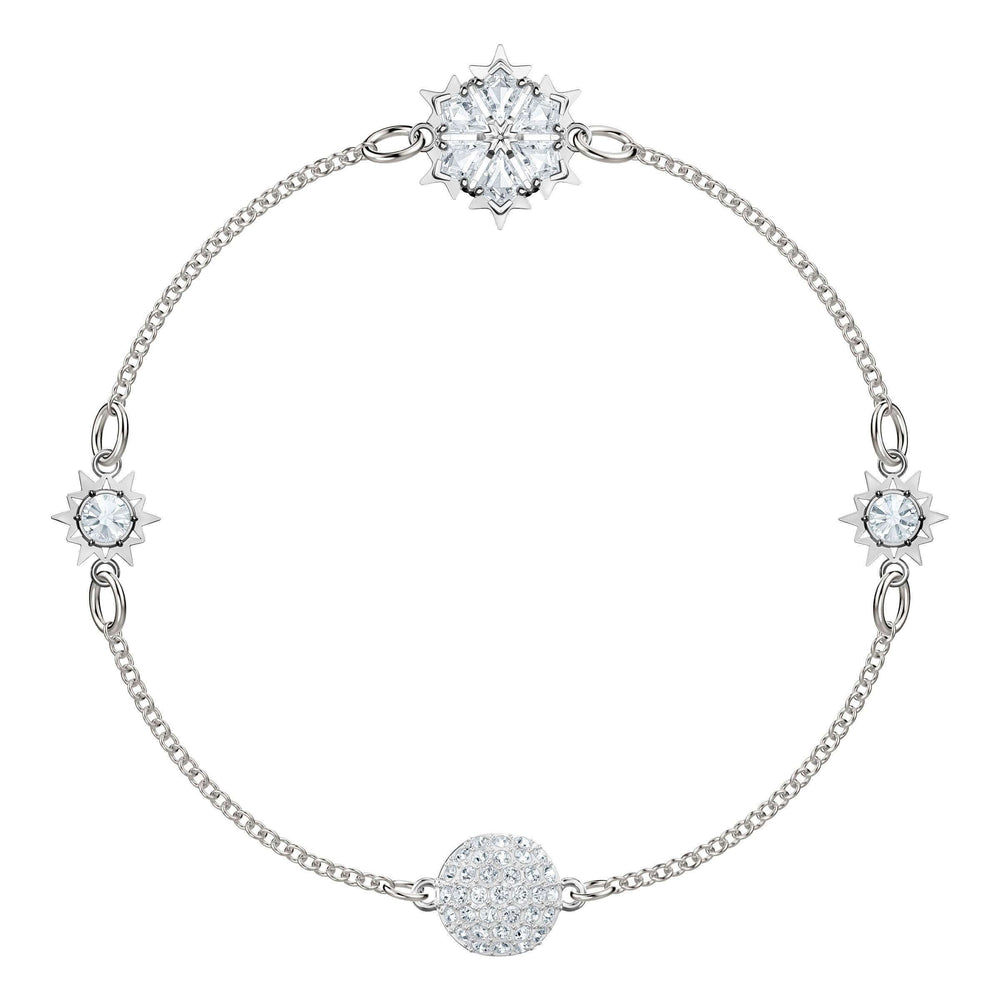 Swarovski Swarovski Remix Collection Snowflake, White, Rhodium Plating