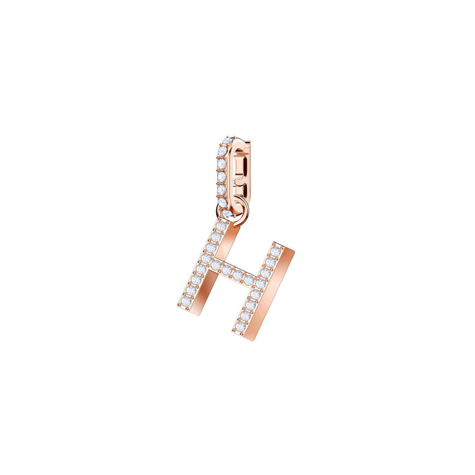 Swarovski Swarovski Remix Collection Charm H, White, Rose Gold Plating