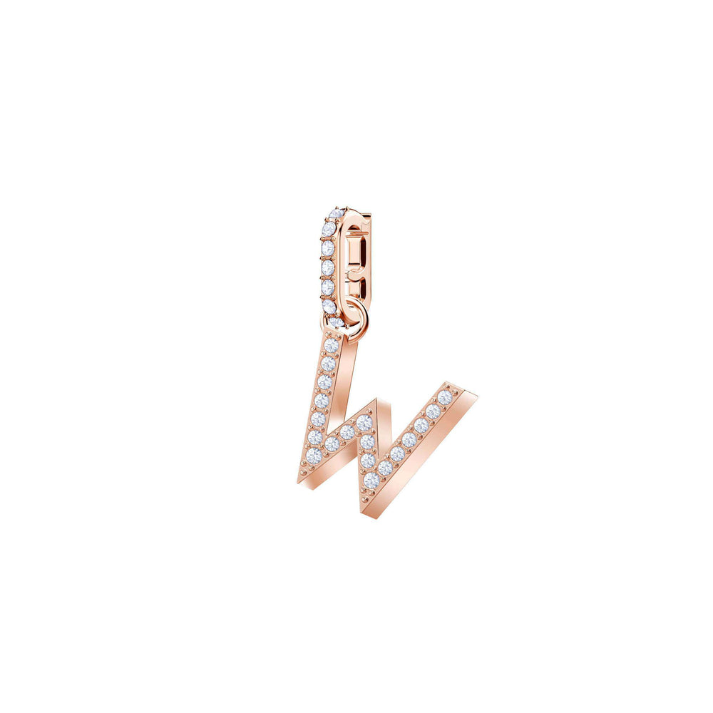 Swarovski Swarovski Remix Collection Charm W, White, Rose Gold Plating