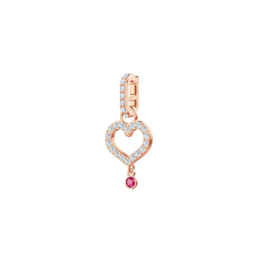 Swarovski Swarovski Remix Collection Charm Heart, White, Rose gold plating