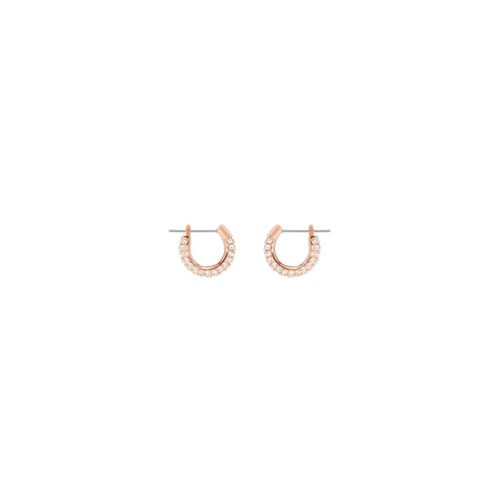 Stone Pierced Earrings, Small, Pink, Rose Gold Plating