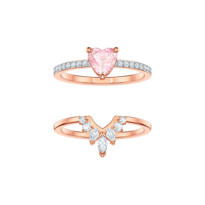 Swarovski One Ring Set, Multi-colored, Rose gold plating