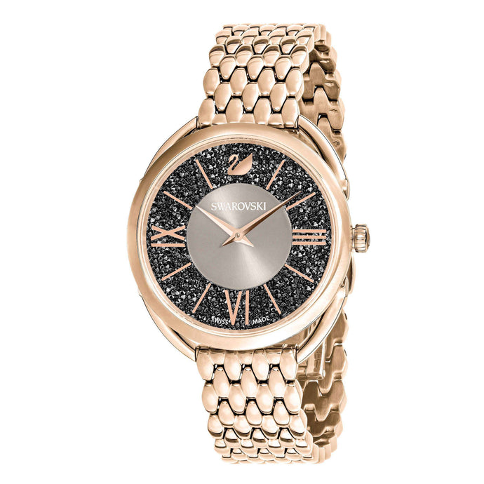 Swarovski Crystalline Glam Watch, Metal Bracelet, White, Champagne gold tone