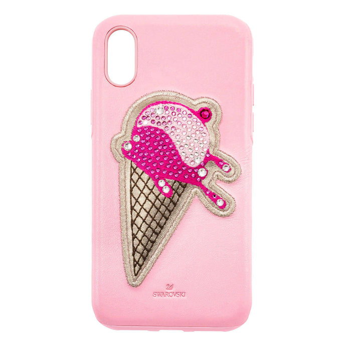 Swarovski No Regrets Ice Cream Smartphone case with integrated Bumper, iPhone® X/XS, Pink