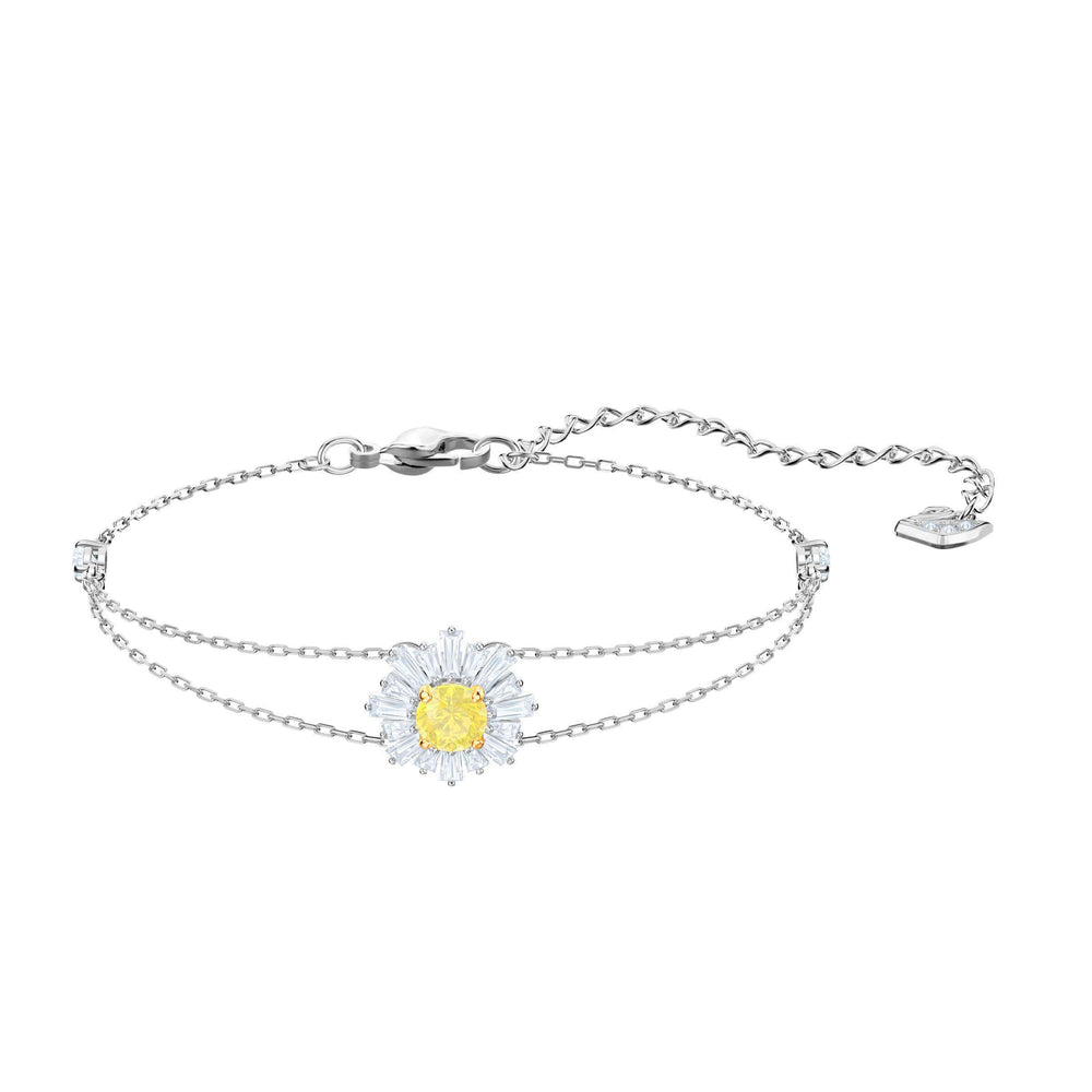 Sunshine Bracelet, White, Rhodium plating