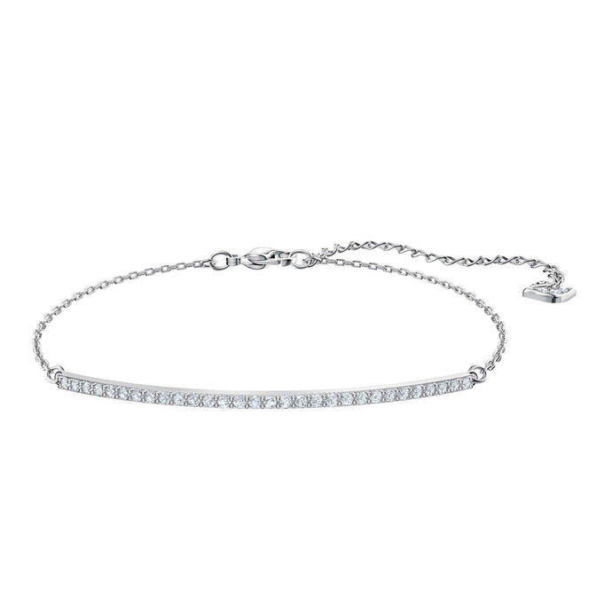 Swarovski Only Bracelet, White, Rhodium plating
