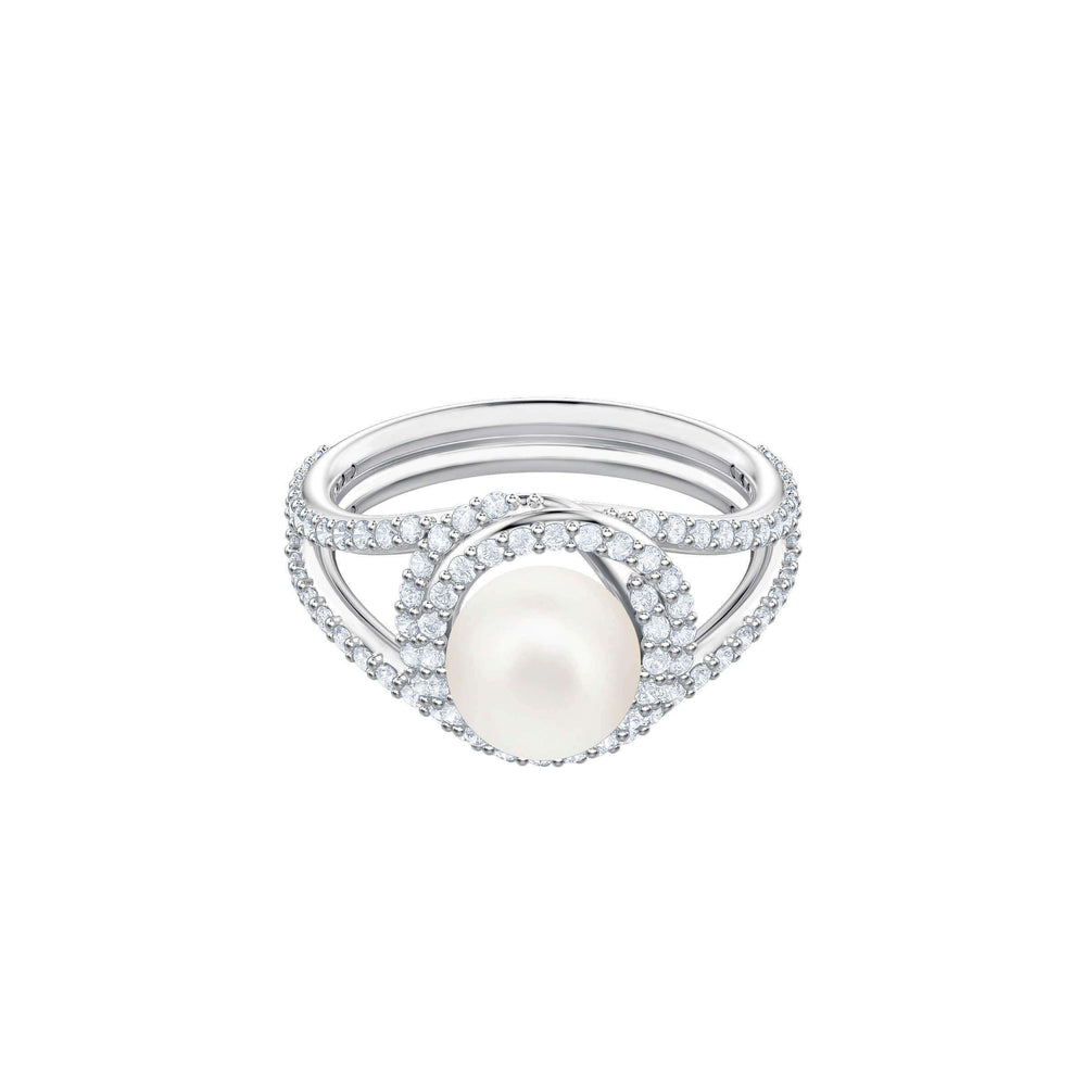 Swarovski Originally Cocktail Ring, White, Rhodium plating