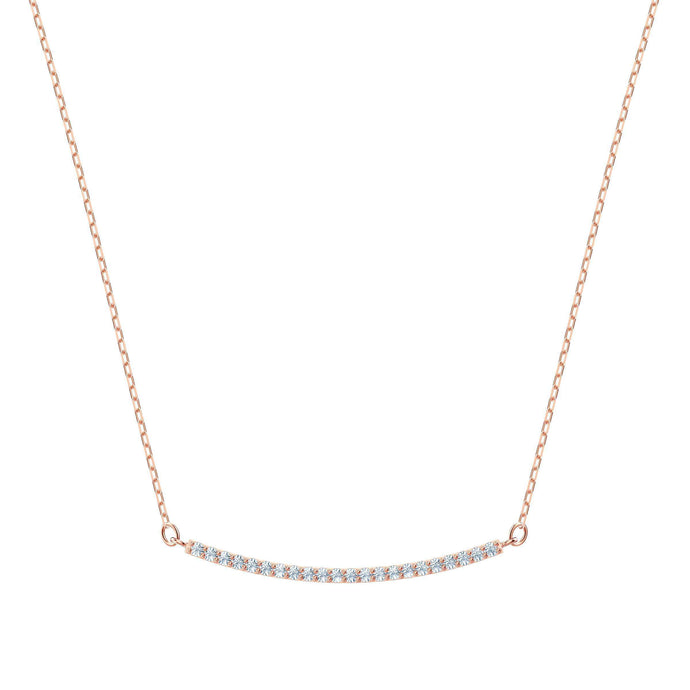 Swarovski Only Necklace, White, Rose gold plating