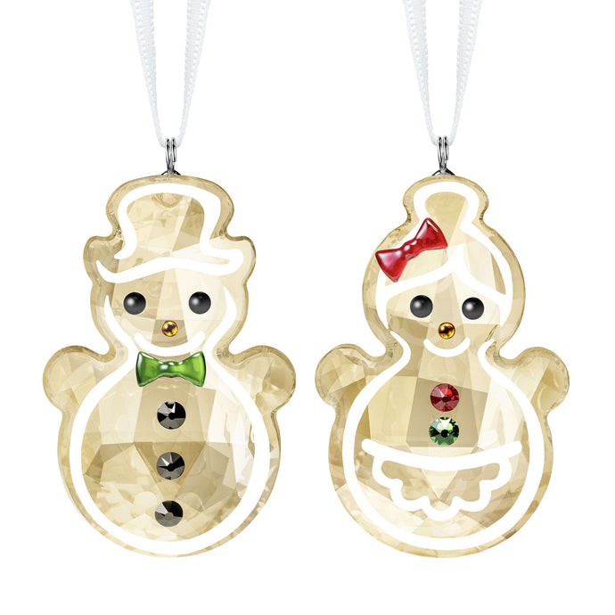 Gingerbread Snowman Couple Ornament