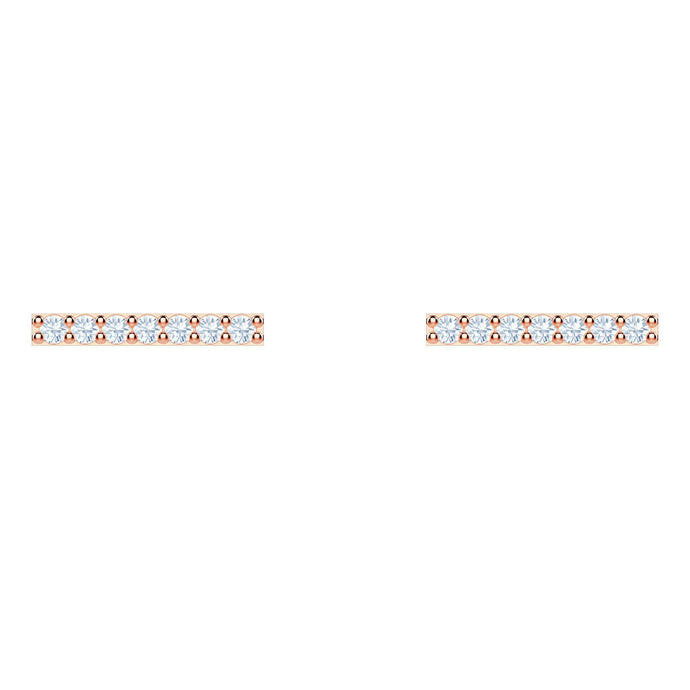 Swarovski Only Pierced Earrings, White, Rose gold plating