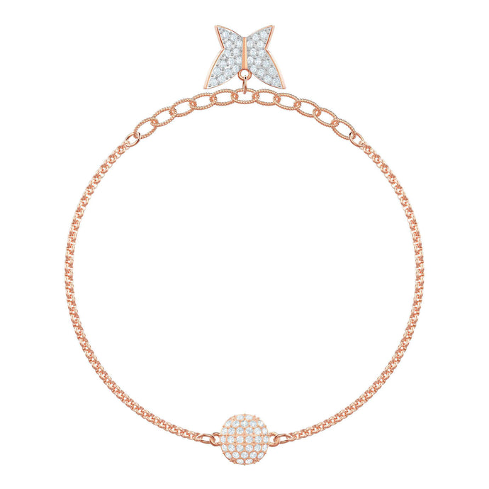 Swarovski Remix Collection Lilia Strand, White, Rose gold plating