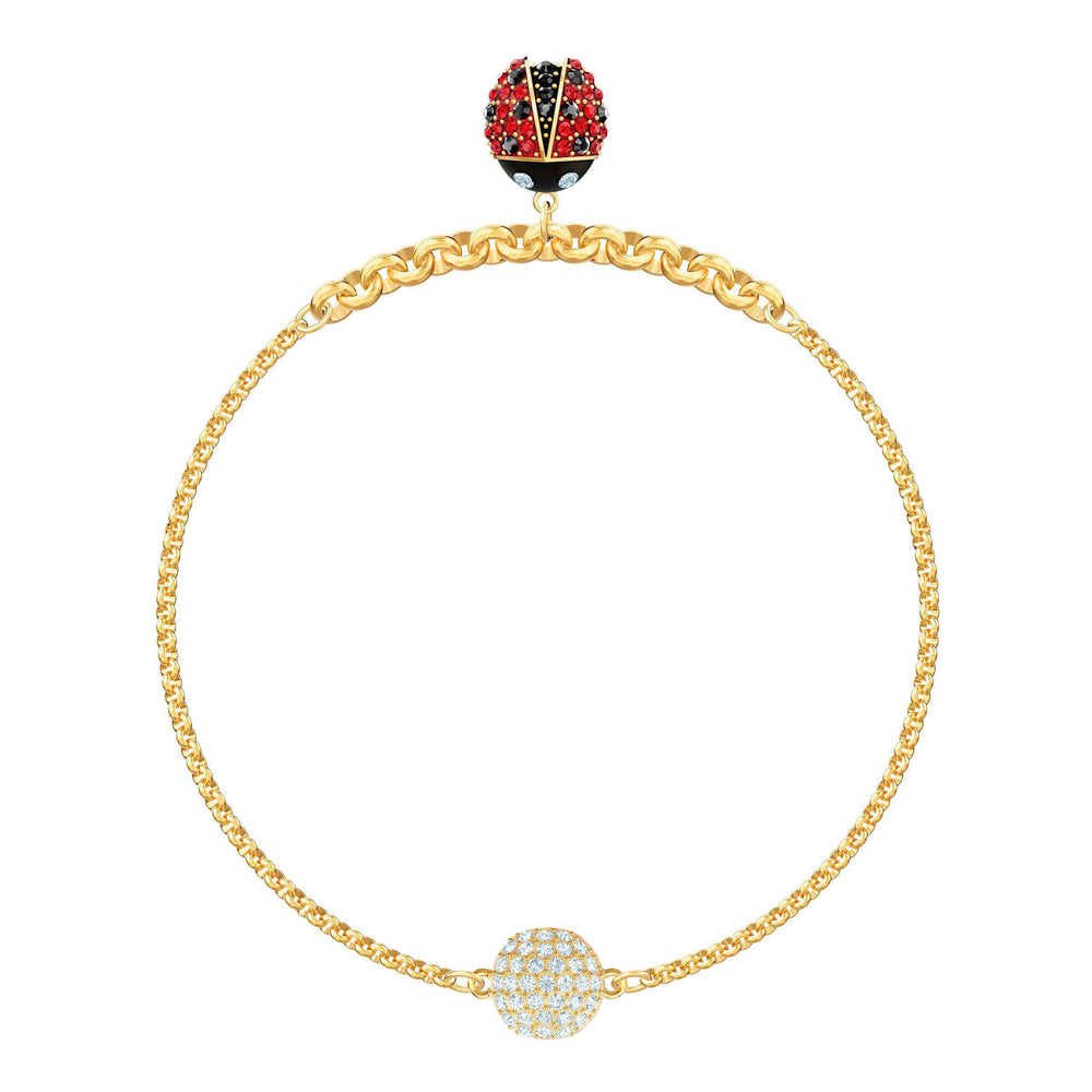 Swarovski Swarovski Remix Collection Ladybug Strand, Multi-colored, Gold plating