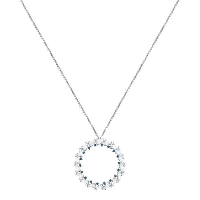 Swarovski Naeli Necklace, White, Rhodium plating