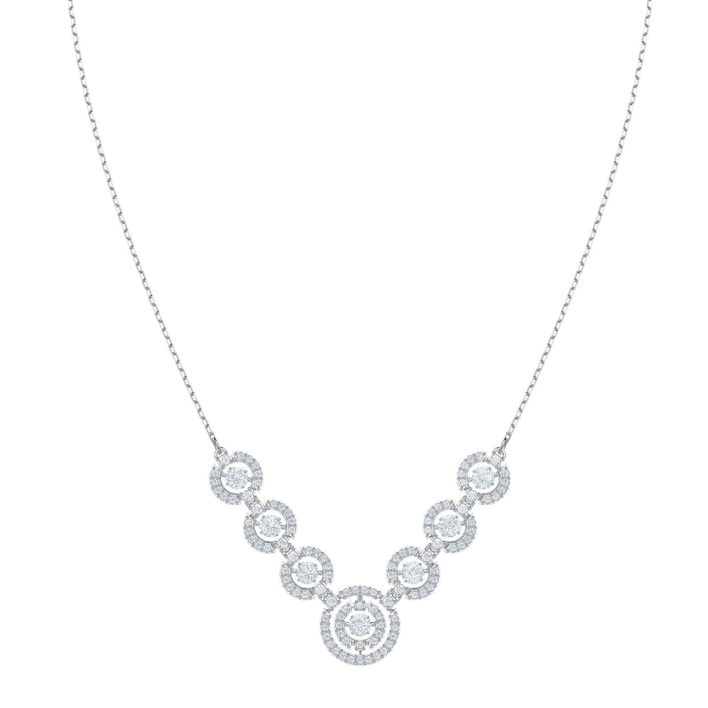 Swarovski Sparkling Dance Necklace, White, Rhodium plating