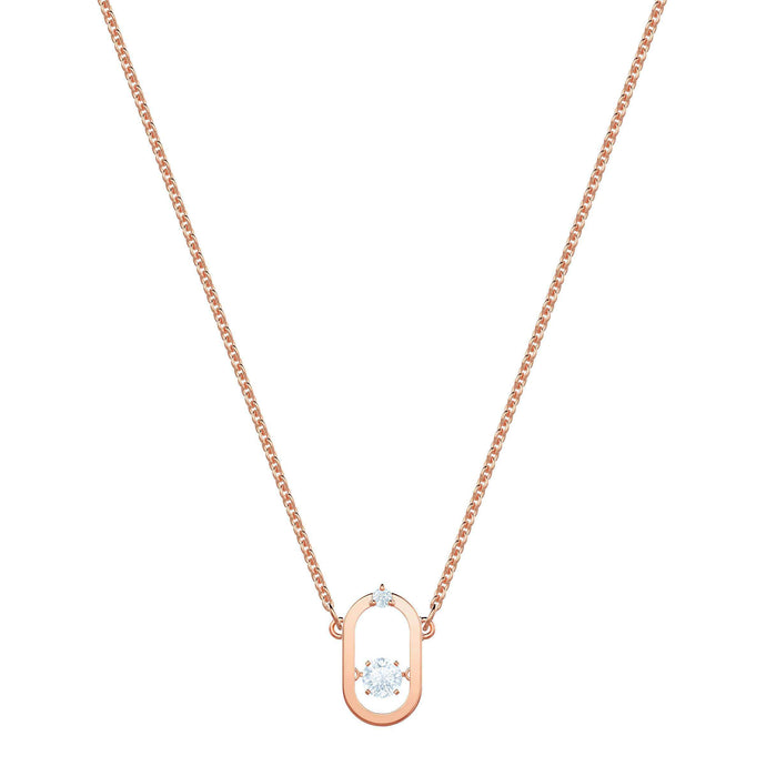Swarovski North Necklace, White, Rose gold plating