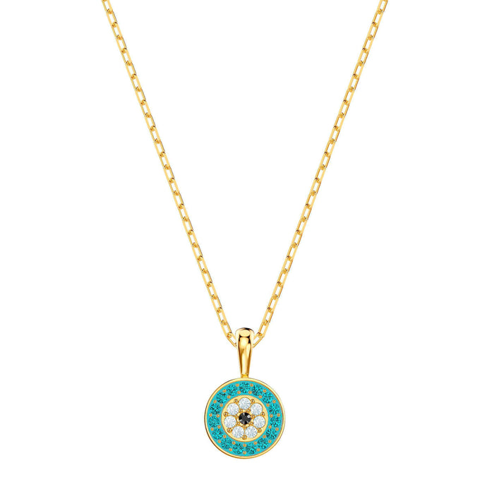 Swarovski Luckily Pendant, Multi-colored, Gold plating