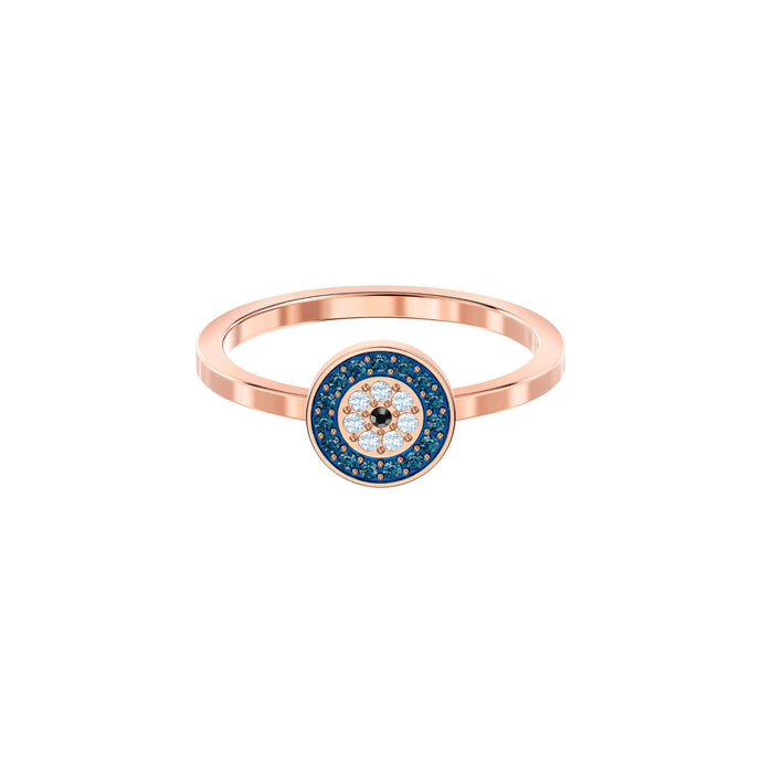 Luckily Ring, Multi-colored, Rose gold plating
