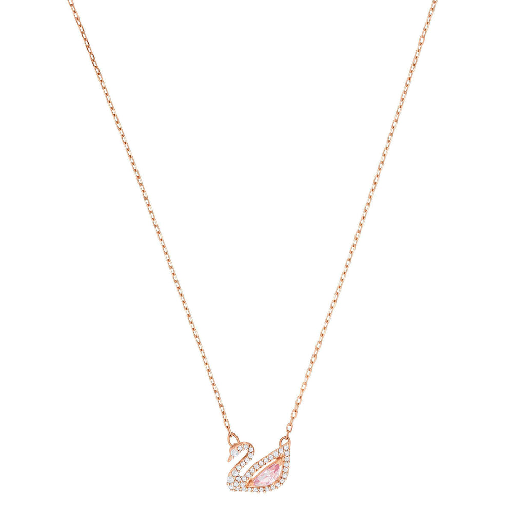Swarovski Dazzling Swan Necklace, Multi-colored, Rose gold plating