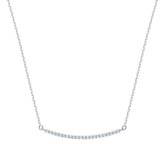 Swarovski Only Necklace, White, Rhodium plating