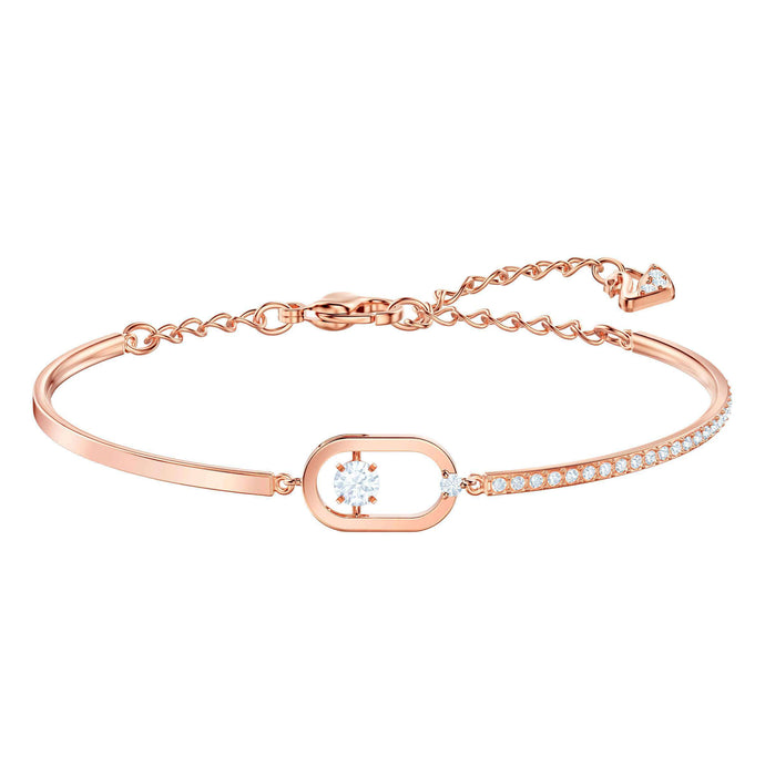 Swarovski North Bracelet, White, Rose gold plating