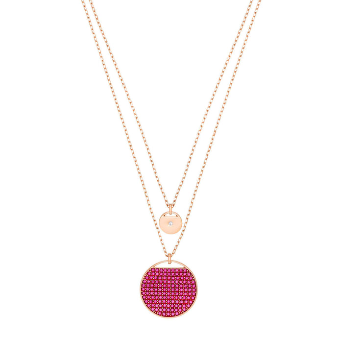 Swarovski Ginger Pendant, Pink, Rose gold plating
