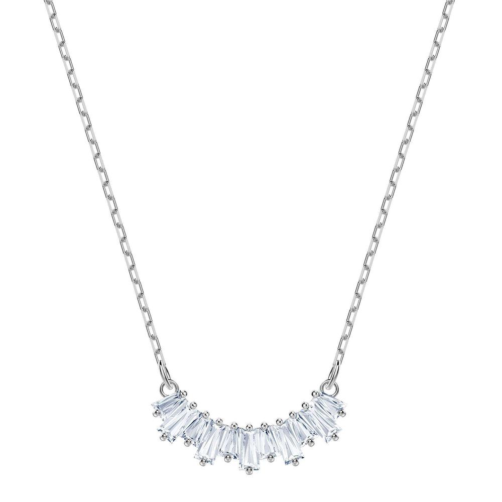 Swarovski Sunshine Necklace, White, Rhodium plating