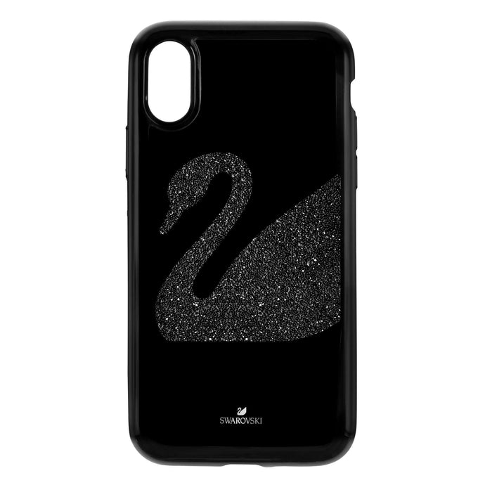Swarovski Swan Fabric Smartphone case with integrated Bumper, iPhone® XR, Black