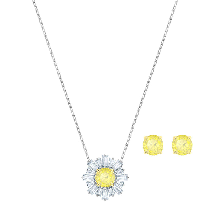 Swarovski Sunshine Set, White, Mixed plating