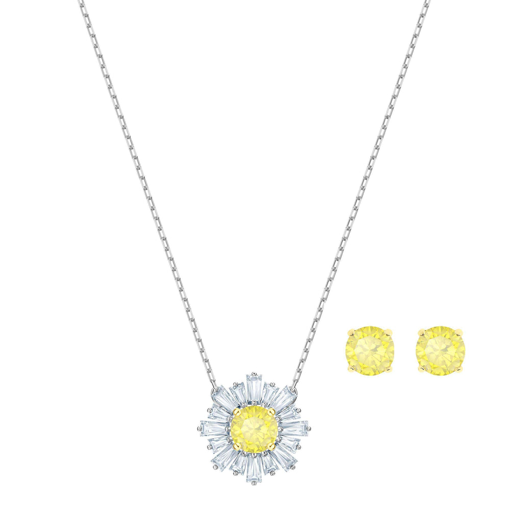 Sunshine Set, White, Mixed plating