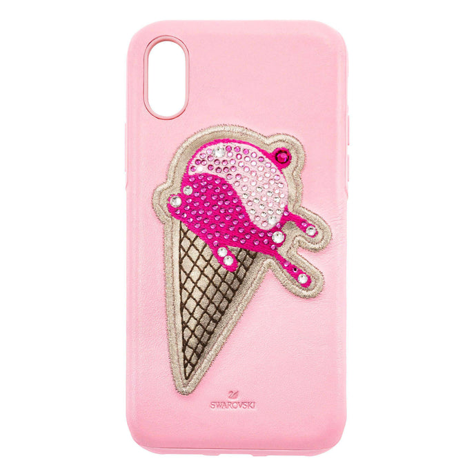 Swarovski No Regrets Ice Cream Smartphone case with integrated Bumper, iPhone® XR, Pink