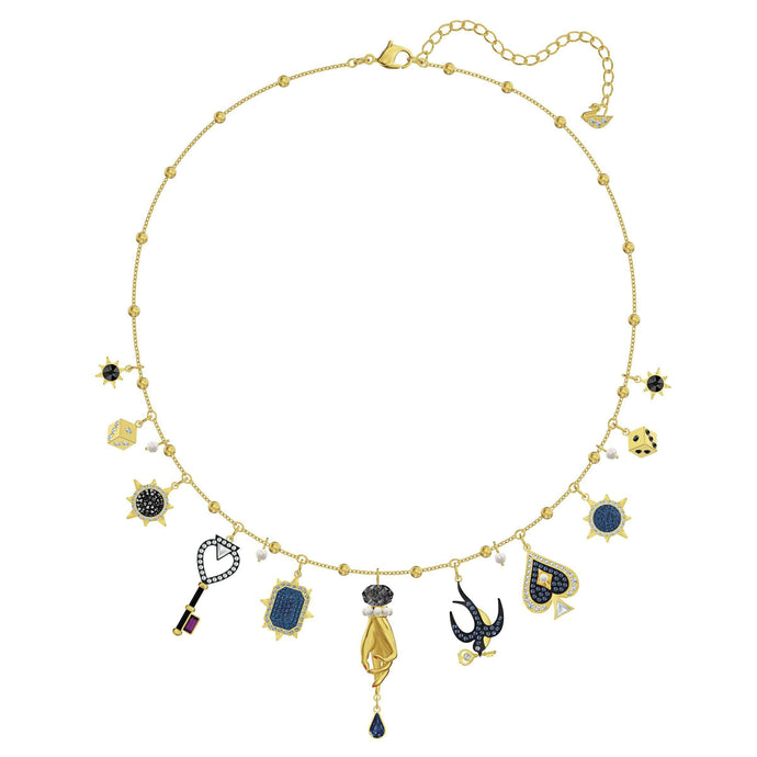 Swarovski Tarot Magic Necklace, Multi-colored, Gold-tone plated