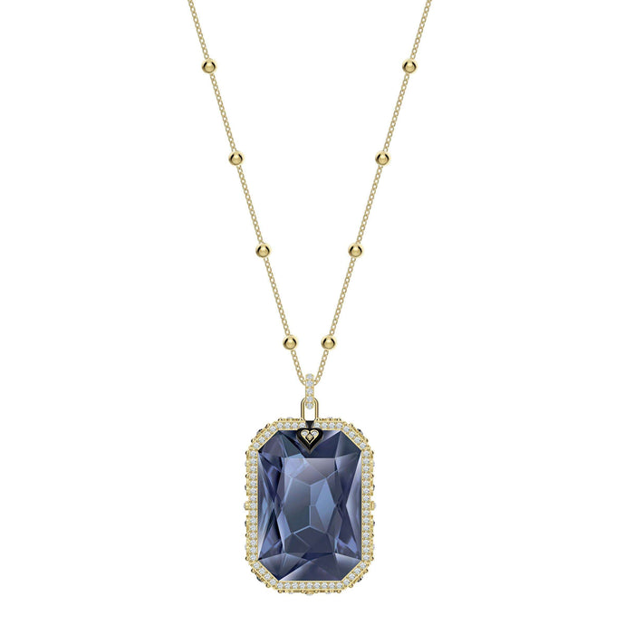 Swarovski Tarot Magic Pendant, Blue, Gold-tone plated