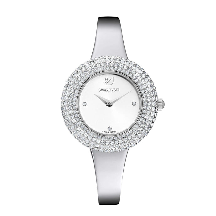 Swarovski Crystal Rose Watch, Metal Bracelet, White, Stainless Steel