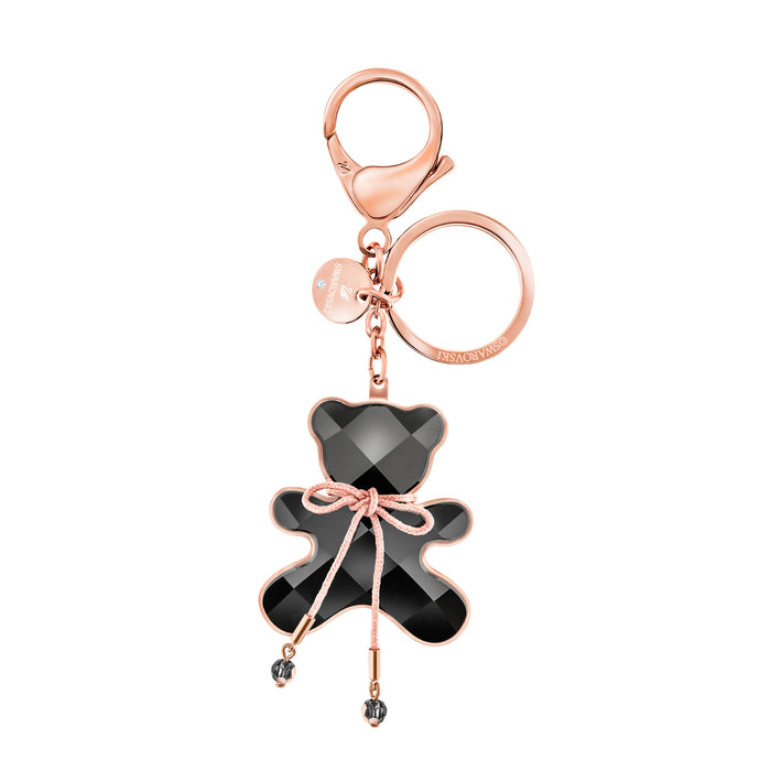 Archibald Hug Me Bag Charm, Black, Rose gold plating