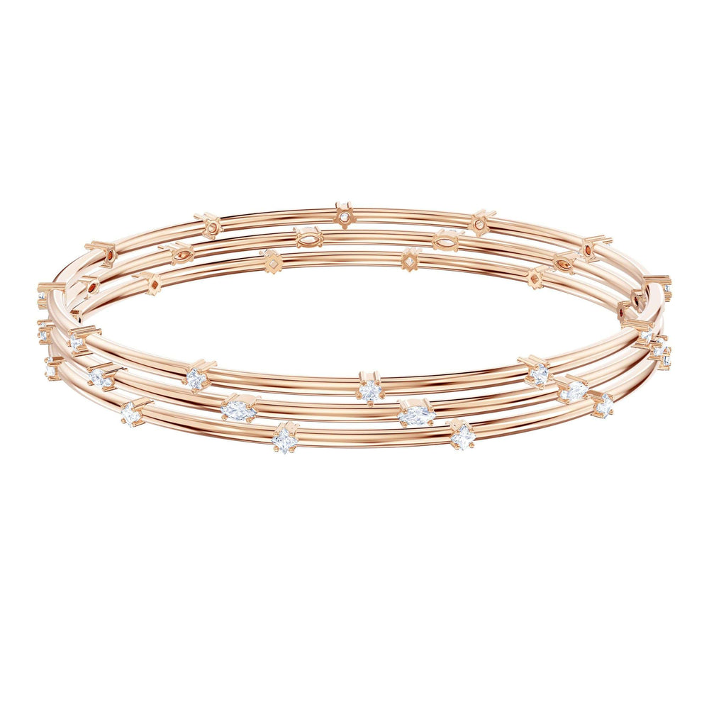 Penélope Cruz Moonsun Cluster Bangle, White, Rose gold plating