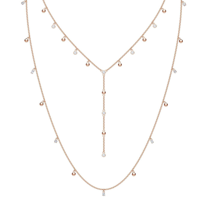 Swarovski Penélope Cruz Moonsun Long Necklace, White, Rose gold plating
