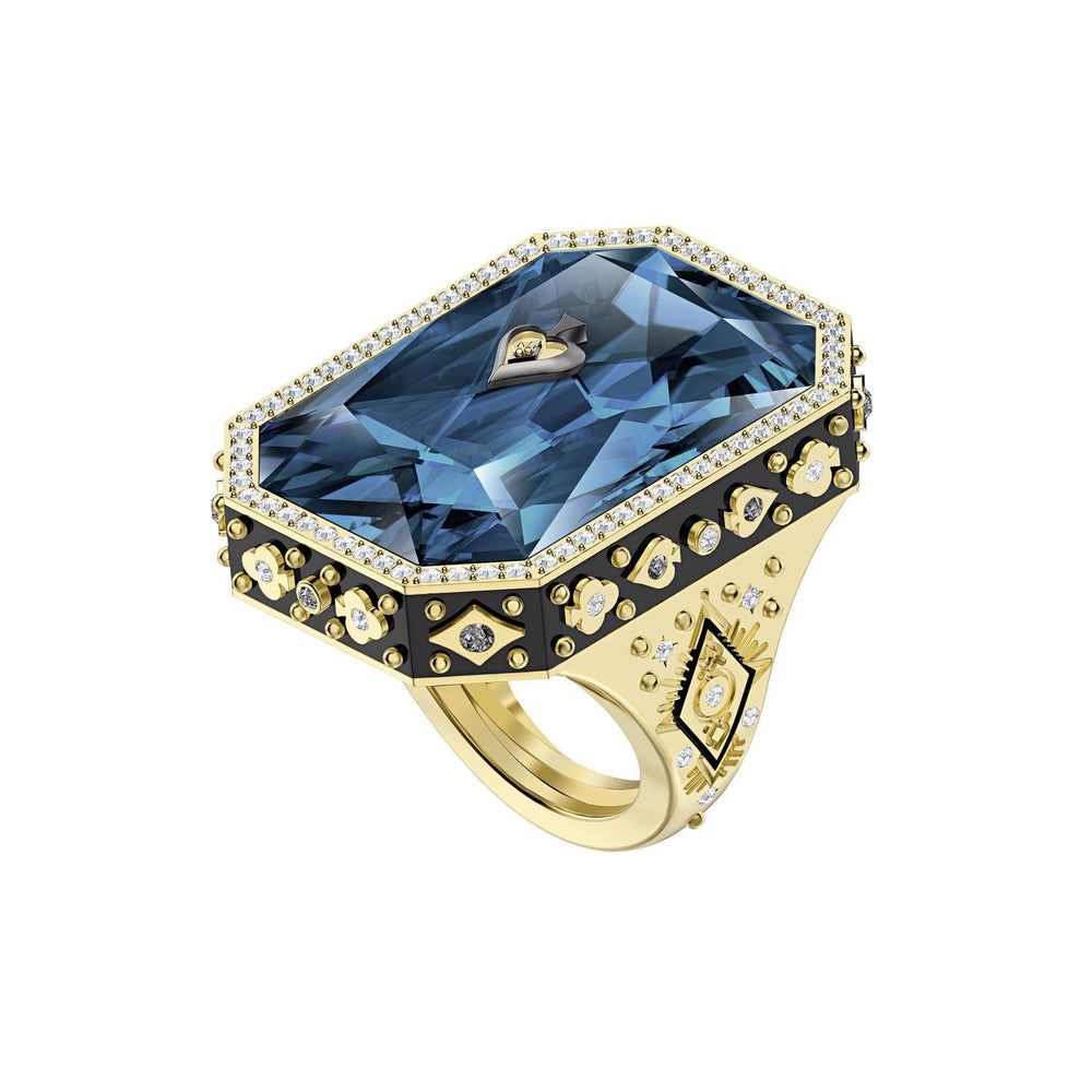 Swarovski Tarot Magic Cocktail Ring, Blue, Gold-tone plated