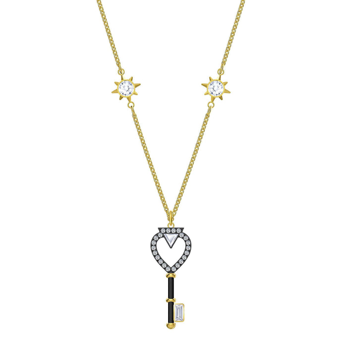 Swarovski Tarot Magic Necklace, White, Gold-tone plated