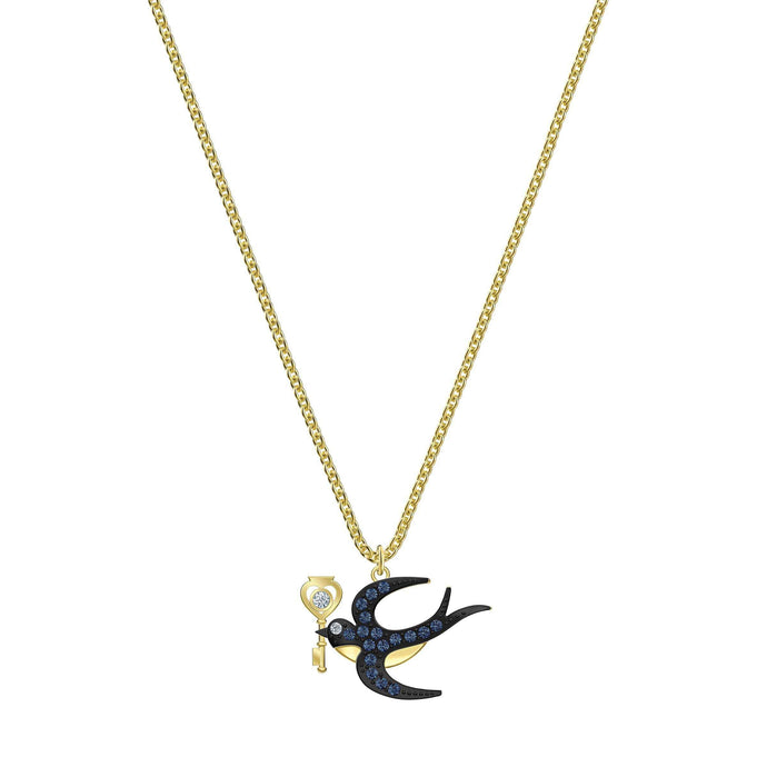 Swarovski Tarot Magic Necklace, Blue, Gold-tone plated