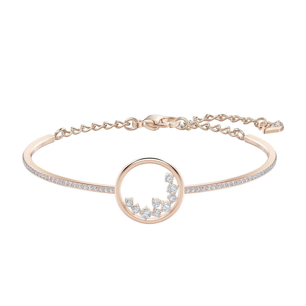 Swarovski North Bracelet, White, Rose-gold tone plated