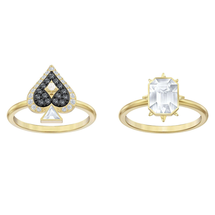 Swarovski Tarot Magic Ring set, Multi-colored, Gold-tone plated