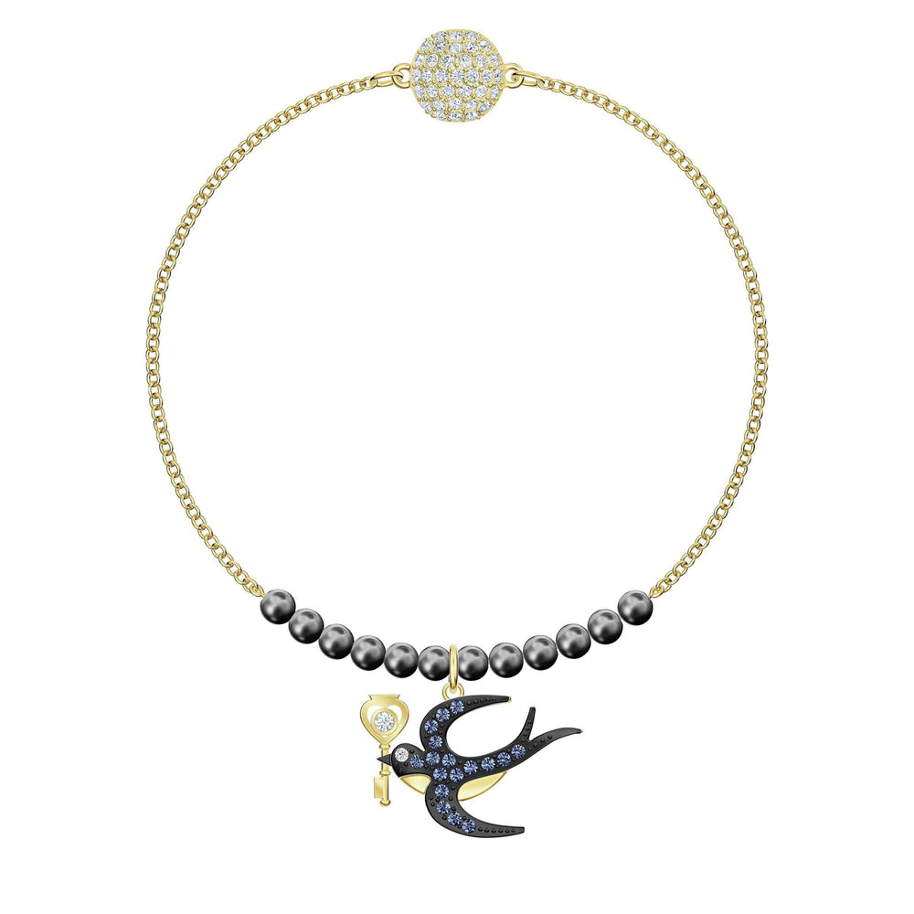 Swarovski Swarovski Remix Collection Swallow Strand, Multi-colored, Gold-tone plated