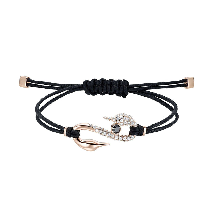 Swarovski Swarovski Power Collection Hook Bracelet, Black, Rose-gold tone plated