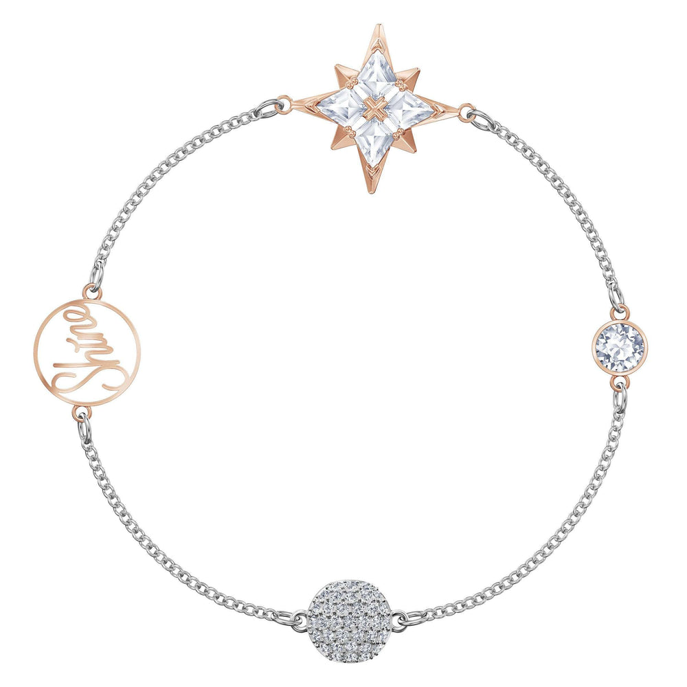Swarovski Swarovski Remix Collection Star Strand, Multi-colored, Mixed metal finish