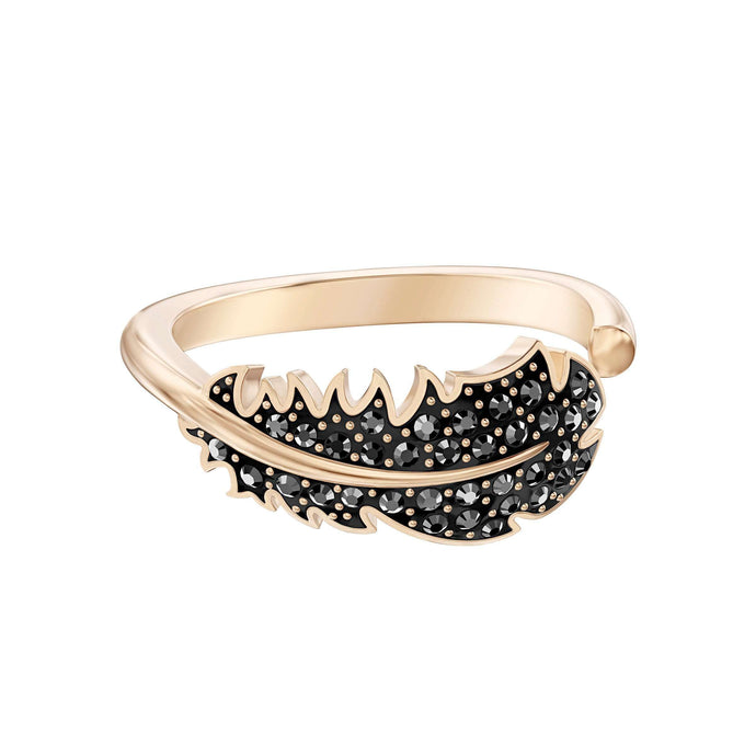 Swarovski Naughty Motif Ring, Black, Rose-gold tone plated